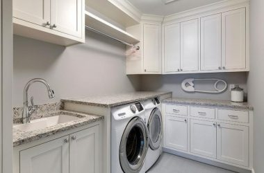 laundry-room-ideas-white-shaker-laundry-room-cabinets-with-gray-granite-countertops-b2b869a82f32c97b